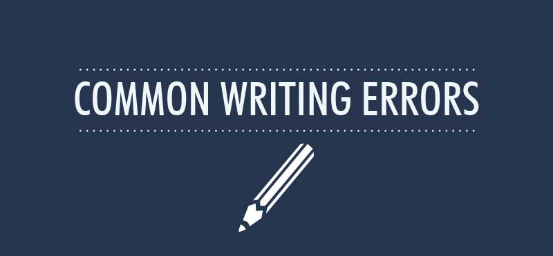 common writing errors